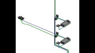 Процесс моделирования системы холодного водоснабжения в Autodesk Revit MEP