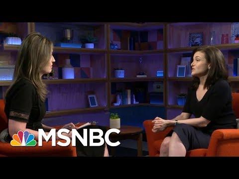 Facebook's COO Sheryl Sandberg: We Could Have Protected Data Sooner   Velshi & Ruhle   MSNBC