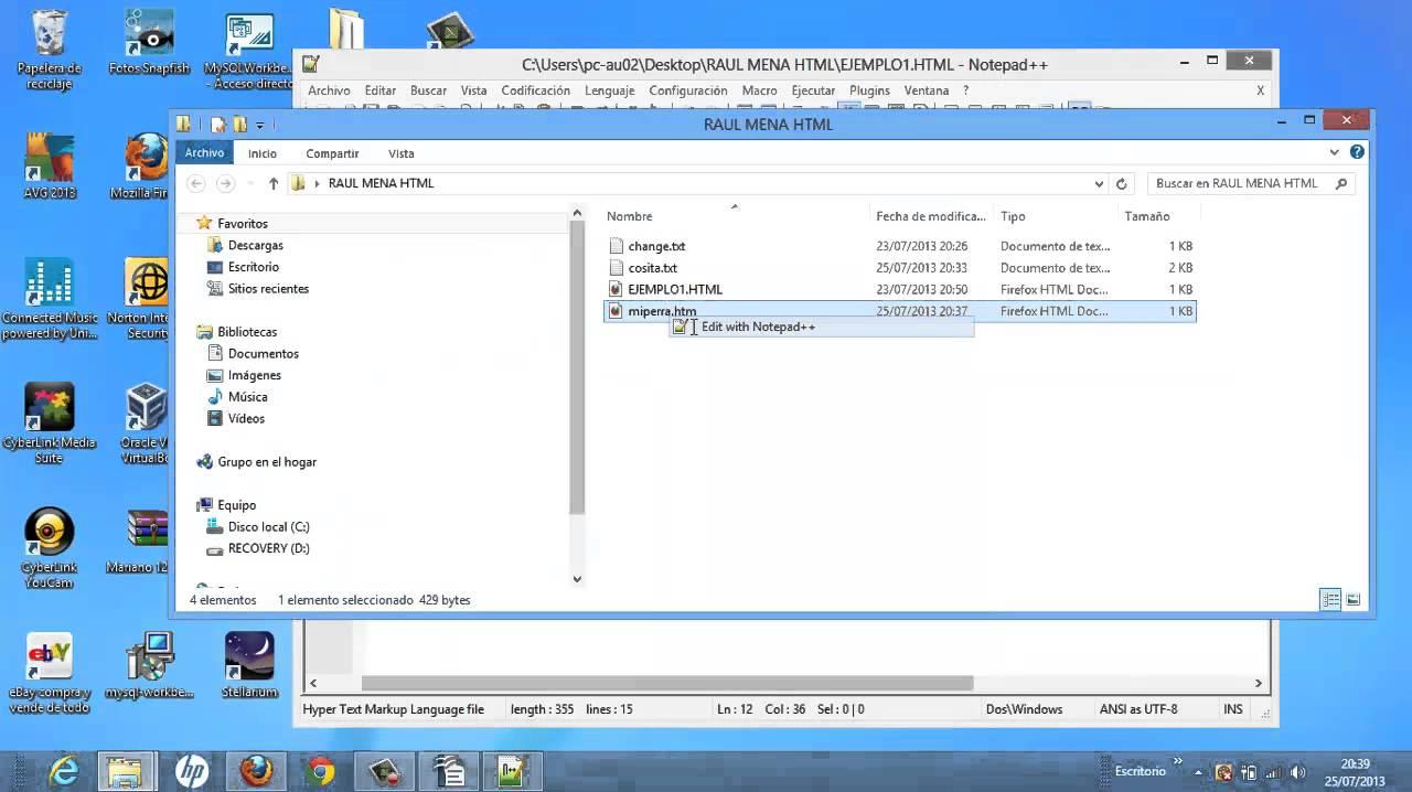img src HTML Tutorial Básico Tags H1 A HREF IMG SRC Informática Academia Usero Estepona