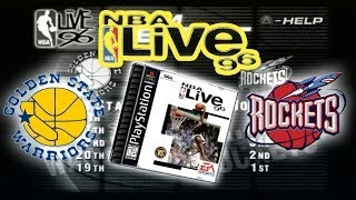 NBA Live 96 - (PS1) - Golden State at Houston | HD Gameplay Retro Live | Ep.1 Road to Live 15