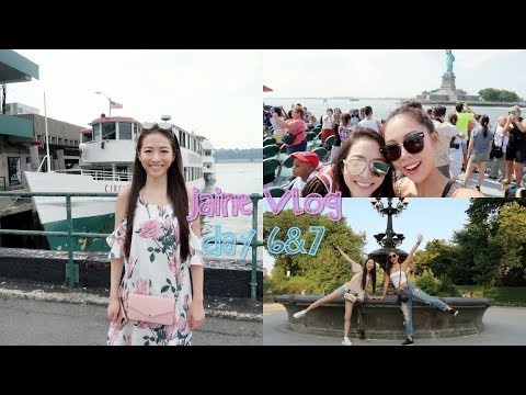 ❤️ Elaine Hau - Jaine Vlog Day 6&7 NYC 🚕 Central Park, Empire State Building, Statue of Liberty🗽