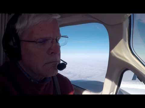 Gary and John flying a (Cessna 421C) Departing Aberdeen SD Landing at Omaha Millard Airport