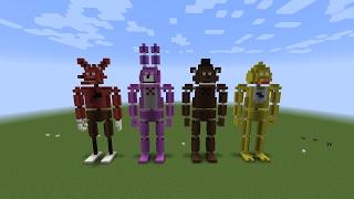 Minecraft Mini Build FNAF Statues 1993