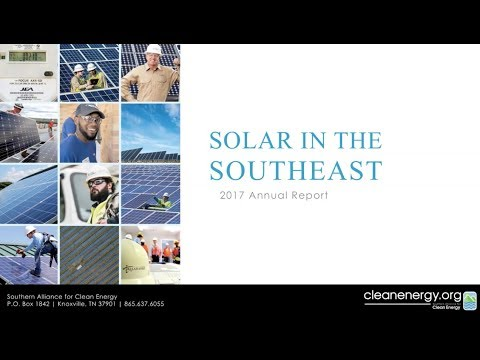 WEBINAR: 2017 Solar in the Southeast Annual Report