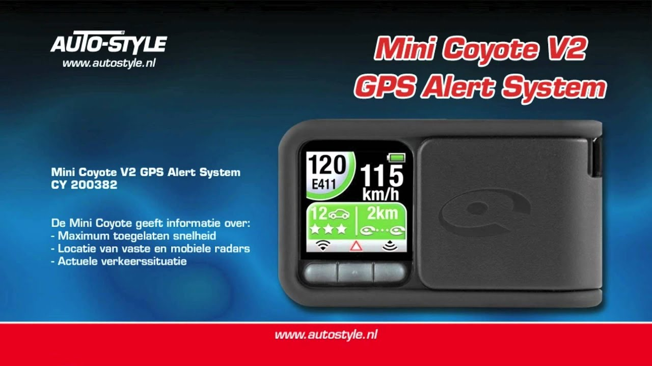mini coyote v2 gps alert system by autostyle youtube. Black Bedroom Furniture Sets. Home Design Ideas