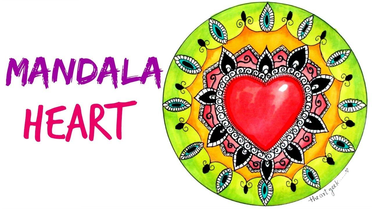 Draw a Mandala with Heart - YouTube