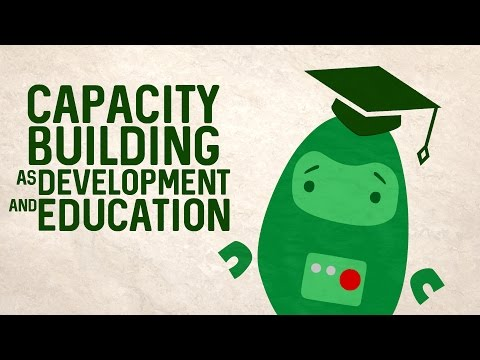 Capacity building as development and education