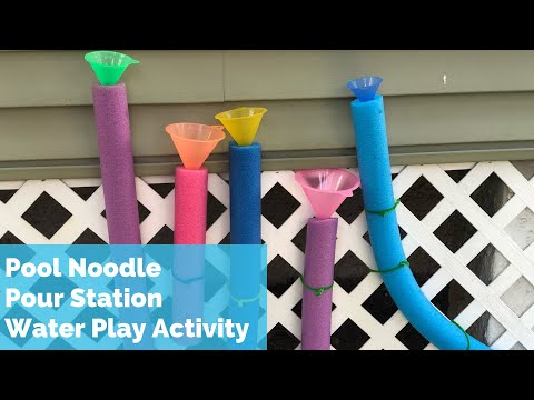 outdoor-activity-for-kids---pool-noodle-pour-station-toddler-preschool---toddler-sensory-water-play