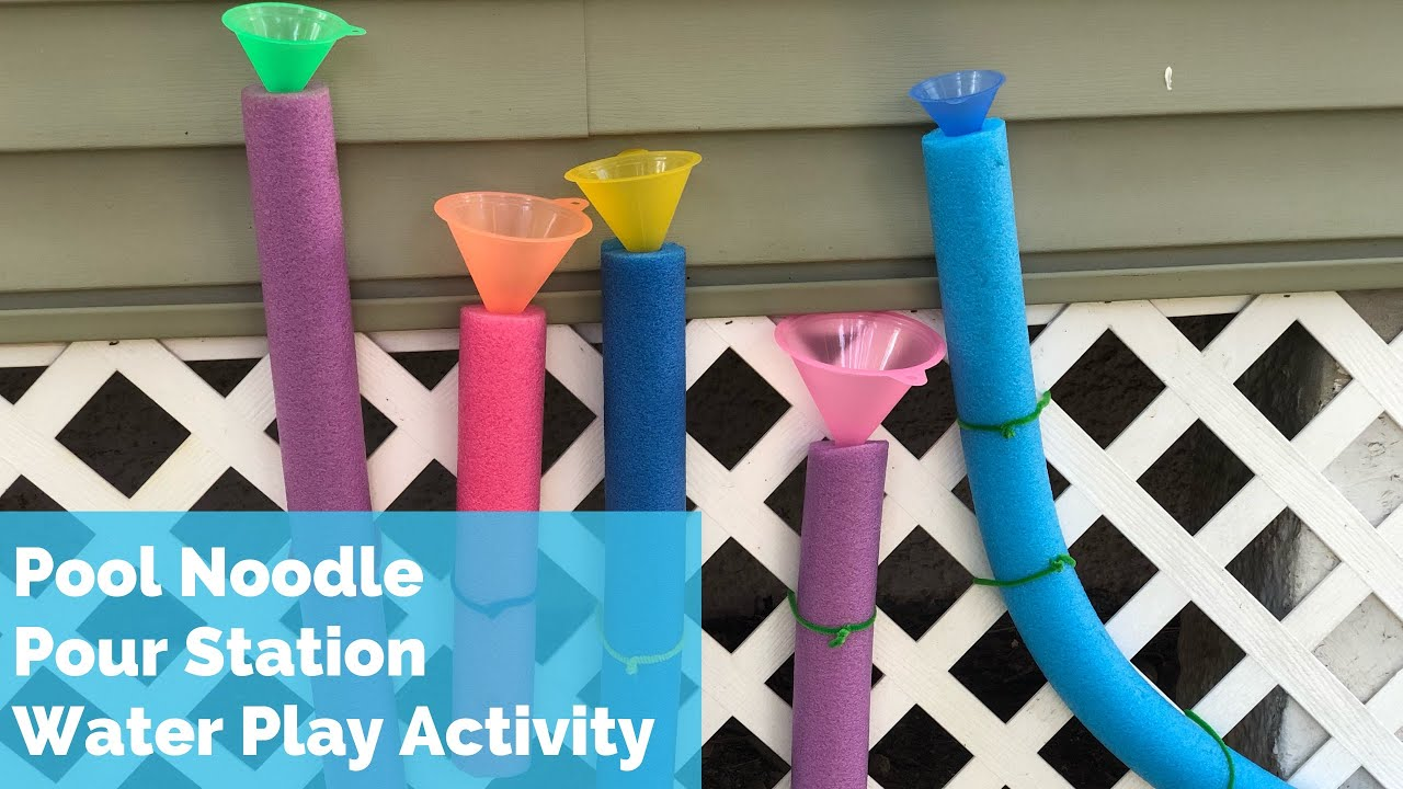 Outdoor Activity for Kids - Pool Noodle Pour Station Toddler Preschool -  Toddler Sensory Water Play