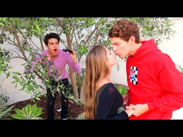 SPYING ON MY LITTLE SISTER AND HER BOYFRIEND!! | Brent Rivera