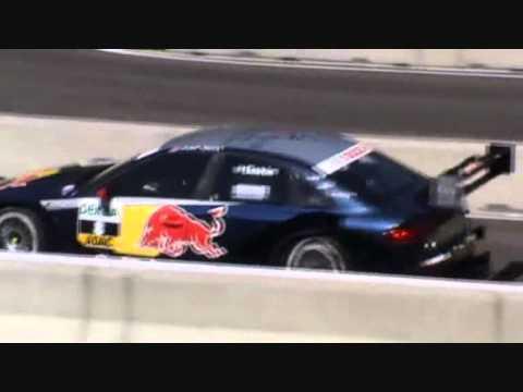 DTM  München Matthias Ekström v.s. Filipe Albuquerque Audi A4 Duell