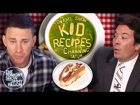 Channing Tatum and Jimmy Try Kid Recipes | The Tonight Show Starring Jimmy Fallon