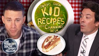 Channing Tatum and Jimmy Try Kid Recipes  The Tonight Show Starring Jimmy Fallon