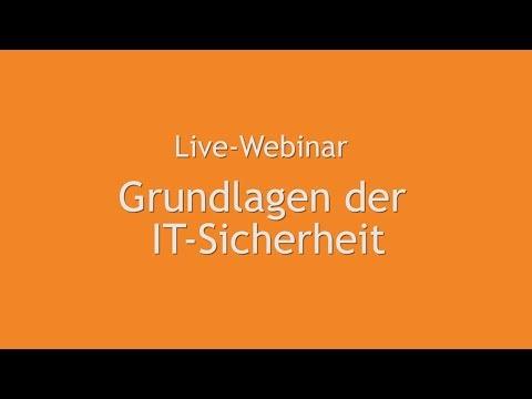 Webinar Grundlagen der IT-Sicherheit (Teil 1)