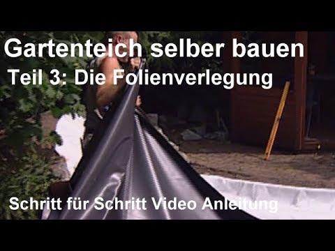Gartenteich selber bauen teil 3 die folienverlegung for Youtube gartenteich anlegen