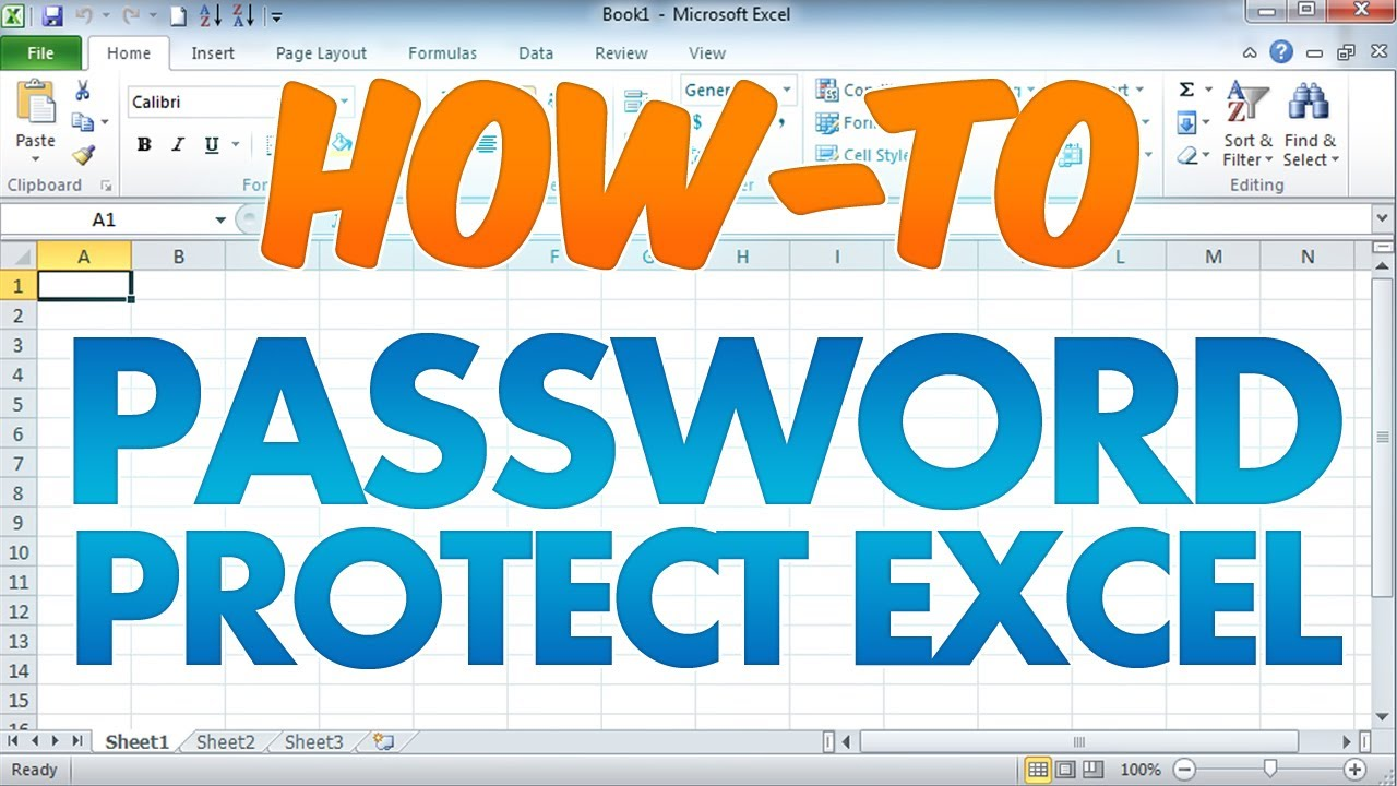 Workbooks how to protect excel workbook : Password Protect an Excel Workbook Document - YouTube