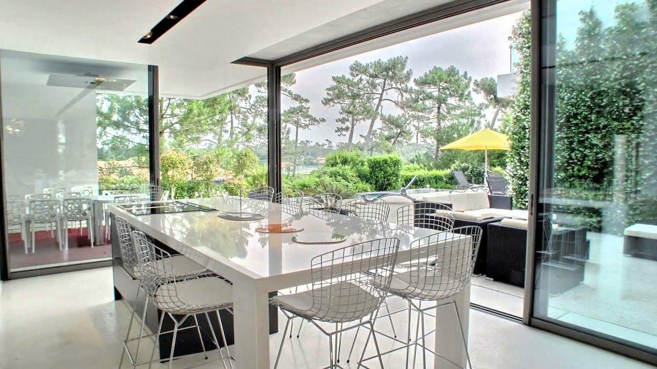 a vendre superbe demeure de prestige contemporaine lac de chiberta anglet youtube. Black Bedroom Furniture Sets. Home Design Ideas
