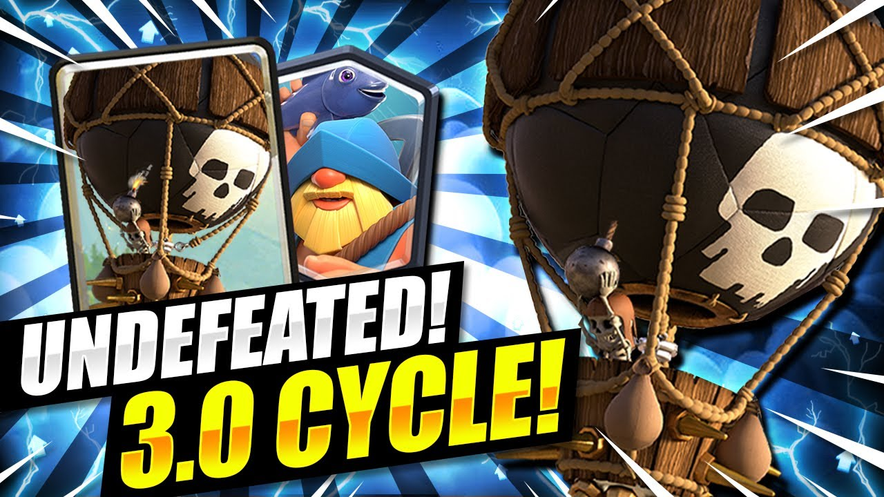 UNDEFEATED DECK!! NEW 3.0 BALLOON FISHERMAN CYCLE IS TAKING OVER!! - Clash Royale Balloon Deck