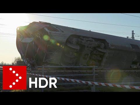 Incidente ferroviario Frecciarossa, il giorno dopo (immagini 4K HDR)