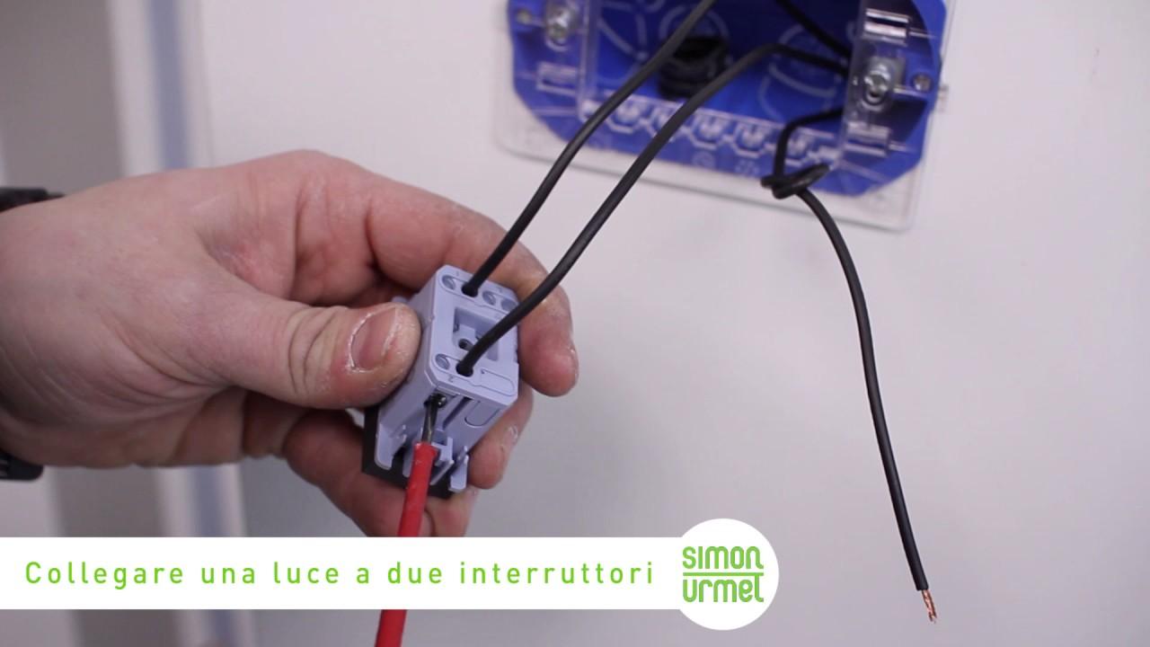 Come collegare due interruttori a una presa elettrica youtube