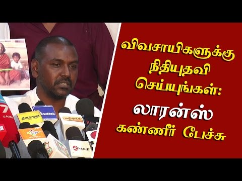Raghava Lawrence gets emotional while demanding financial help for Farmers