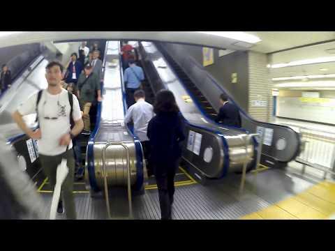 【4K乗換動画】東京駅 横須賀線、総武線ホーム~新幹線中央のりかえ口 乗り換え案内 MGCOOL アクションカメラ