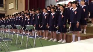 平成26年度柁城小学校卒業式3