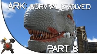 "Ark: Survival Evolved Gameplay - Part 8: ""CLOWN T-REX!"" (Season 3)"