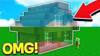 TURNING UNSPEAKABLEGAMINGS HOUSE INVISIBLE! (Minecraft TROLL SMP #7)