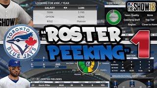 TORONTO BLUE JAYS ROSTER OVERVIEW + SIGNING! MLB The Show 18 Toronto Blue Jays Franchise Episode 1