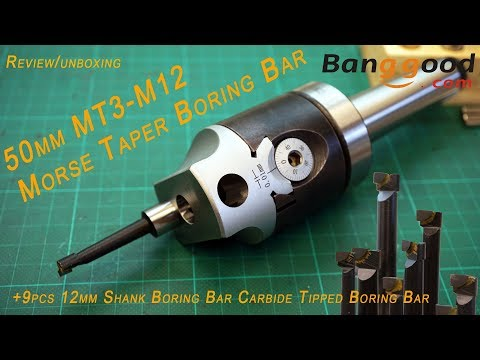 Amadeal 9pc 12mm Boring Bars 50mm Boring Head Set MT3 Holder