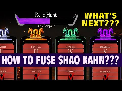 MKX Mobile 1.15. Finishing Relic Hunt. How to Fuse Shao Kahn? Last Relic Hunt Tower Review.