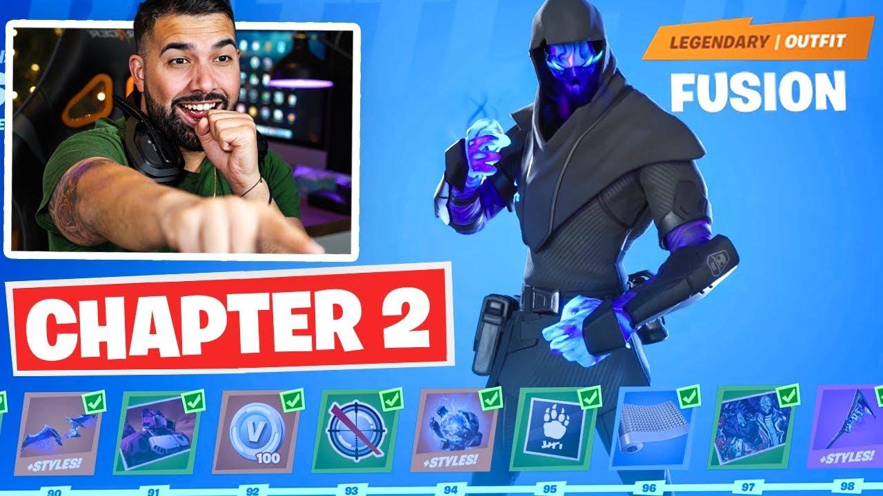 Fortnite Chapter 2 Battle Pass Unlocked Tier 100 Rewards Unlocked