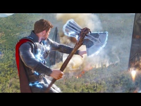Avengers Infinity War Thanos vs Thor New Axe + All Death Scenes Space Battle