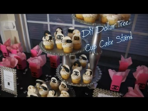 DIY Dollar Tree Cupcake Stand
