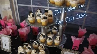 DIY Dollar Tree Cupcake Stand