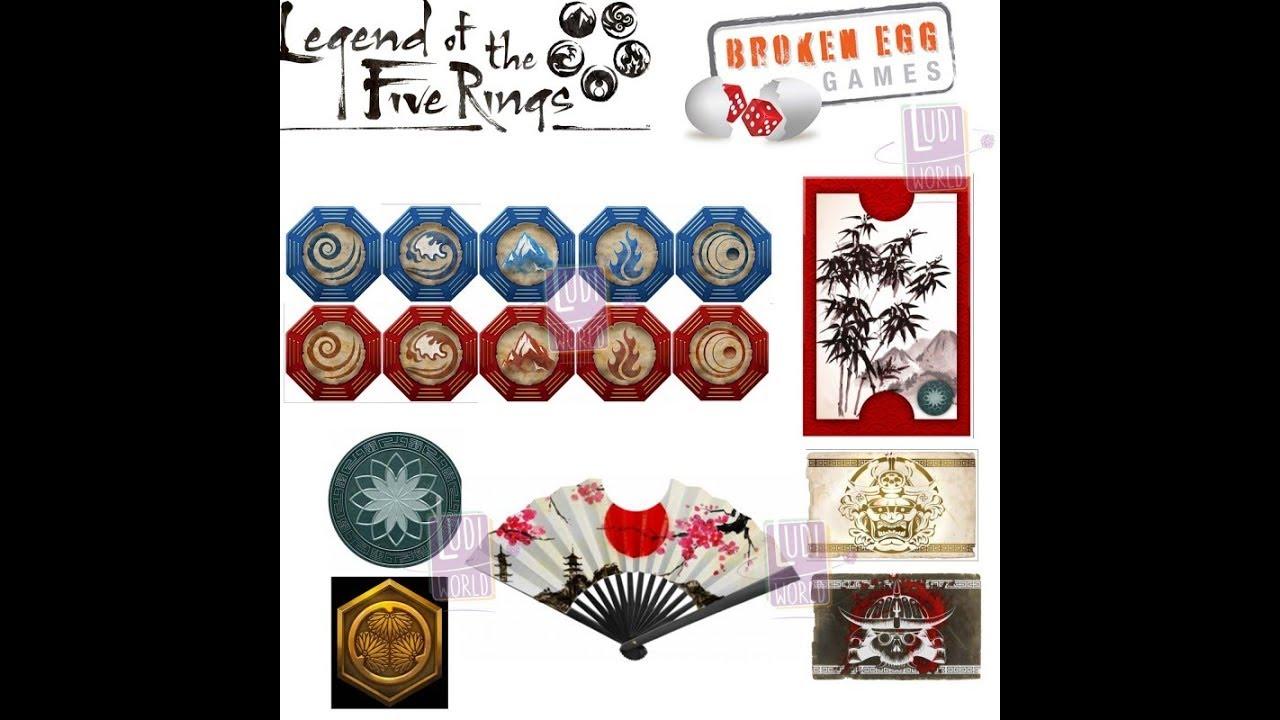 jetons broken egg games la l gende des 5 anneaux legend of the 5 rings youtube. Black Bedroom Furniture Sets. Home Design Ideas