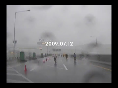 Riding A Bike In The Heavy Rain And Strong Storm Youtube