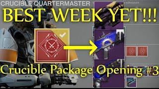 Destiny - MY BEST WEEK YET!! Trials of Osiris Weapons From Crucible Bounties (Package Opening #3)