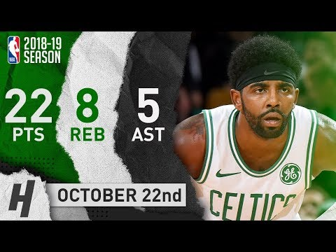 Kyrie Irving Full Highlights Celtics vs Magic 2018.10.22 - 22 Points, 8 Reb, 5 Ast