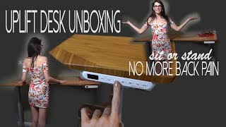 Uplift Desk Unboxing and Review | No More Back Pain! Sit Stand Desk