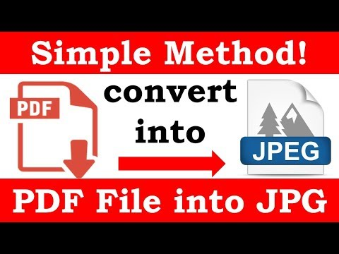 How to change a pdf image into a jpg