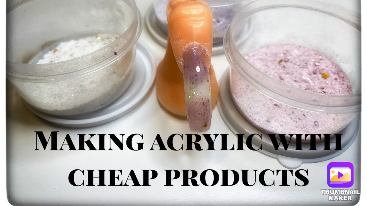 Nail hack | Using cheap products to make acrylic - YouTube