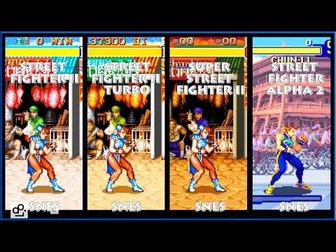 Street Fighter II CHUN-LI Graphic Evolution 1992-1996 (Super Nintendo) SNES