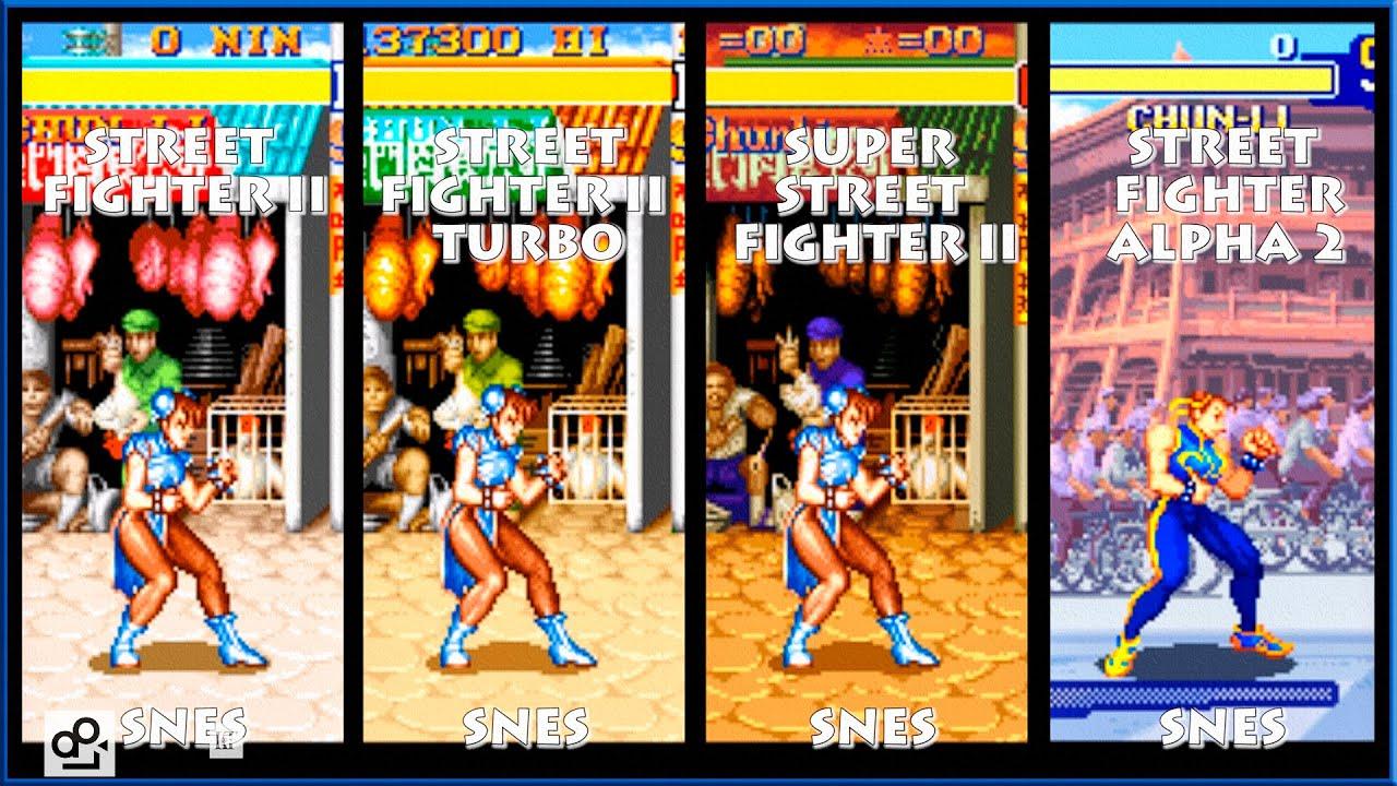 Street Fighter Ii Chun Li Graphic Evolution 1992 1996 Super