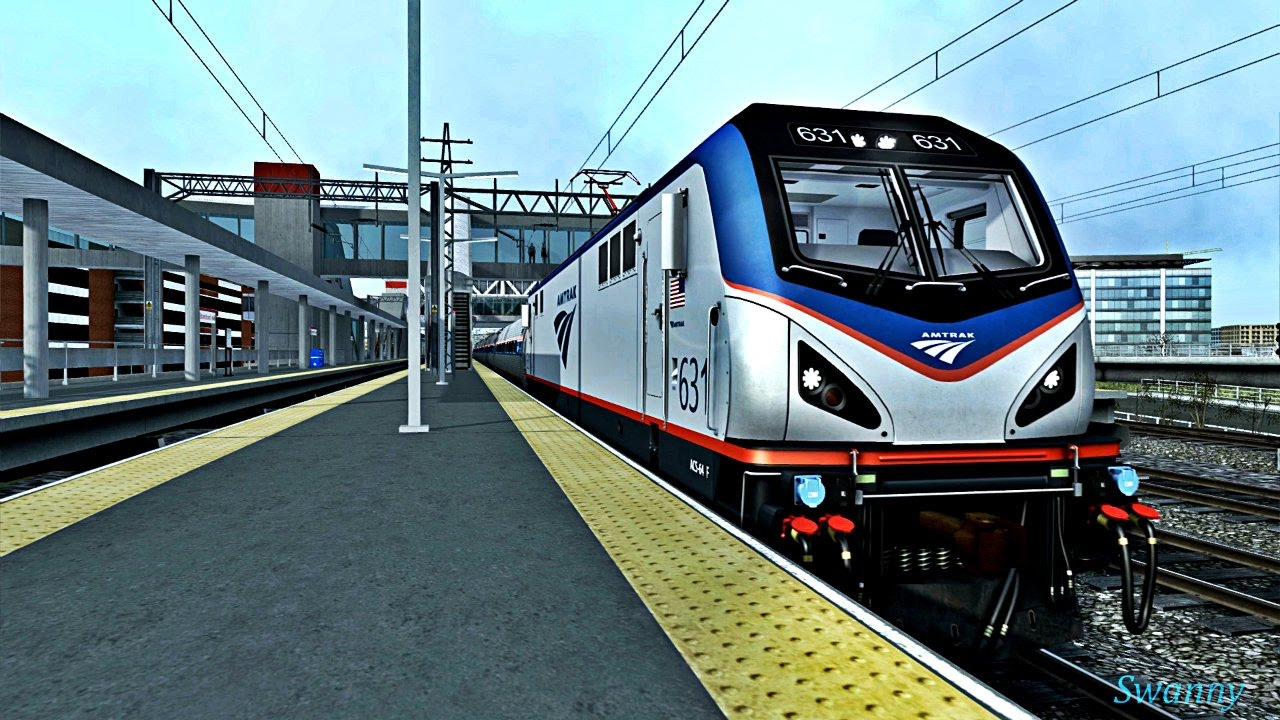 Train Simulator 2017 With Real Sounds - Amtrak Trains! - YouTube