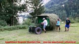 Repeat youtube video Romantische lustige Bergbauern Heuernte Zell am See hay harvest, Zell am See, Austria