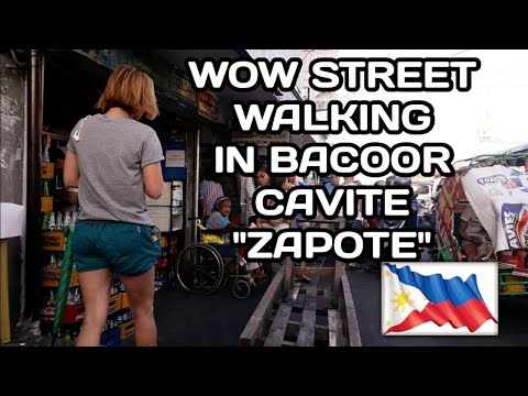 "WALKING in STREET BACOOR CAVITE ""ZAPOTE"" PHILIPPINES 2019 HD"