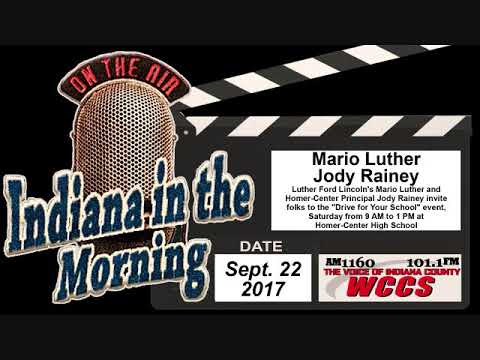 Indiana in the Morning Interview: Mario Luther and Jody Rainey (9-22-17)