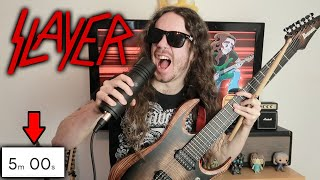 Making A SLAYER Song In 5 Minutes (Speedrun)